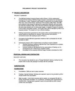 Template For Description In Word by Project Description Template 6 Free Word Pdf Document