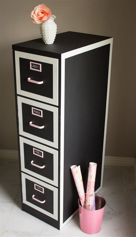 diy chalk paint metal file cabinet makeover design improvised
