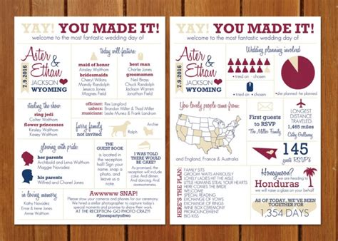 Fun Wedding Programs Guests Will Want To Read Wedding Infographic Template