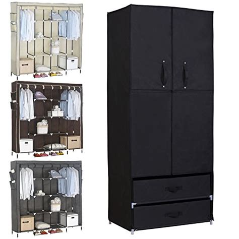 clothes storage woltu portable clothes closet wardrobe with 2 drawer