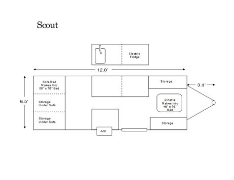 aliner floor plans aliner scout floor plan pop up cers