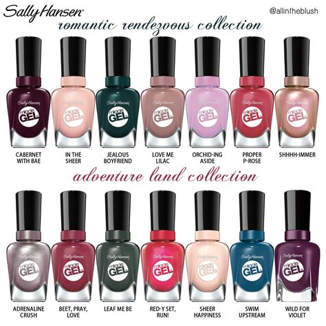 sally hansen gel colors review sally hansen miracle gel travel stories collections