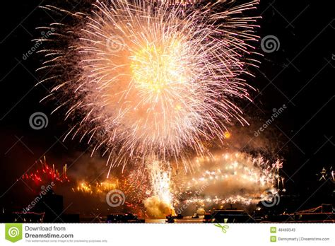 new years shooting fireworks editorial stock photo image 48468343