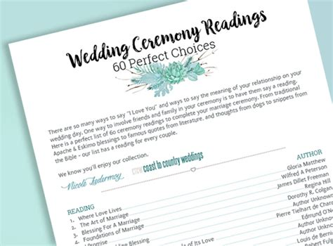 Wedding Ceremony Readings by Wedding Ceremony Readings