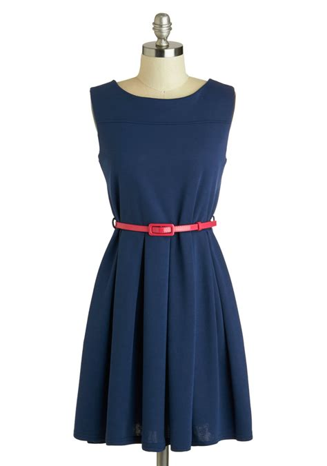 Simple Dress tis a shift to be simple dress in navy mod retro vintage dresses modcloth