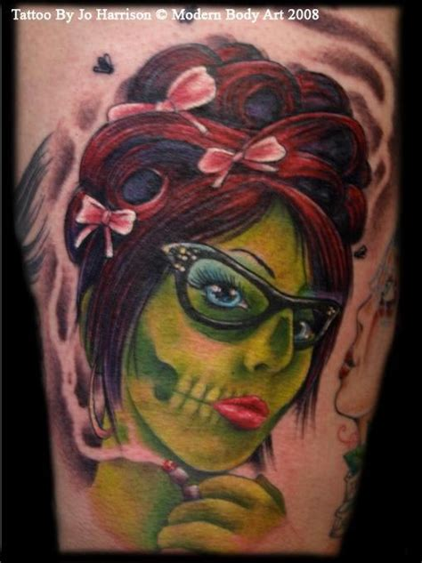 zombie tattoo gallery zombie pinup by jo harrison tattoonow