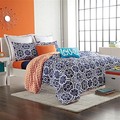 navy and orange bedding buy navy duvet from bed bath beyond