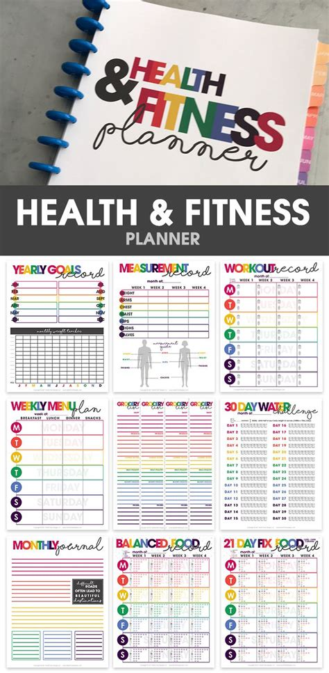 printable weight loss planner health fitness planner to track your fitness goals