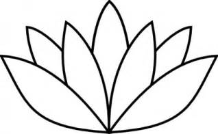 Lotus Flower Template by Early Play Templates Mothers Day Flower Templates And