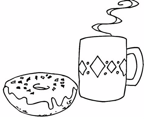 free coloring pages of cute donut