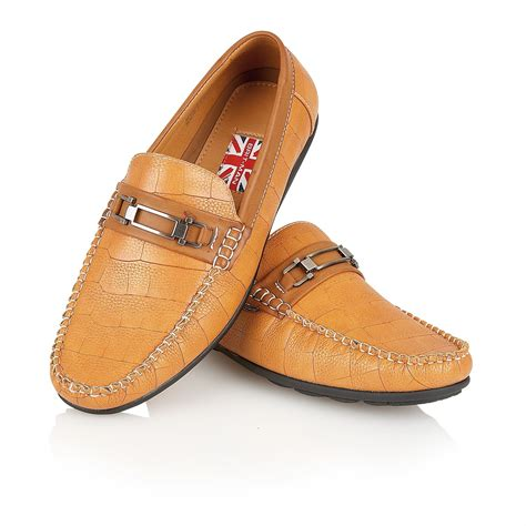 mens italian loafers mens designer leather look italian loafers casual moccasin