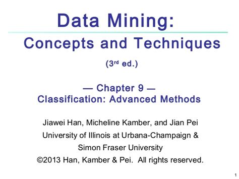assessing and improving prediction and classification theory and algorithms in c books data mining concepts and techniques classification