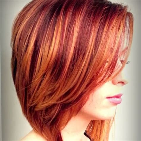 hairstyles with orange highlights spicy red hair color ideas for women 2018 fashionre