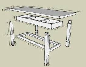 Wooden Work Bench Plans Free by Workbench Plans Made With Sketchup Workbench Plans And Workbenches