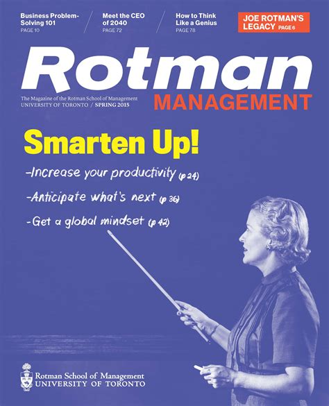 Rotman Mba Curriculum by Back Issues Rotman School Of Management