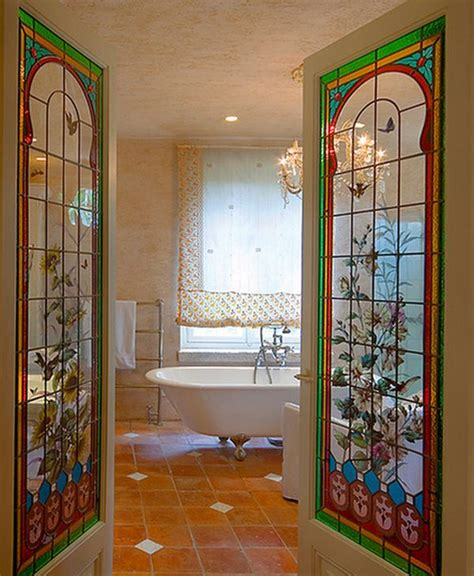 Add Color And Style To Your Home With Stained Glass Stained Glass Sliding Doors