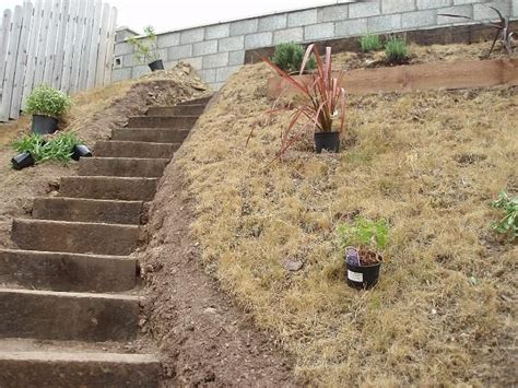 landscaping stairs on steep slope landscaping ideas