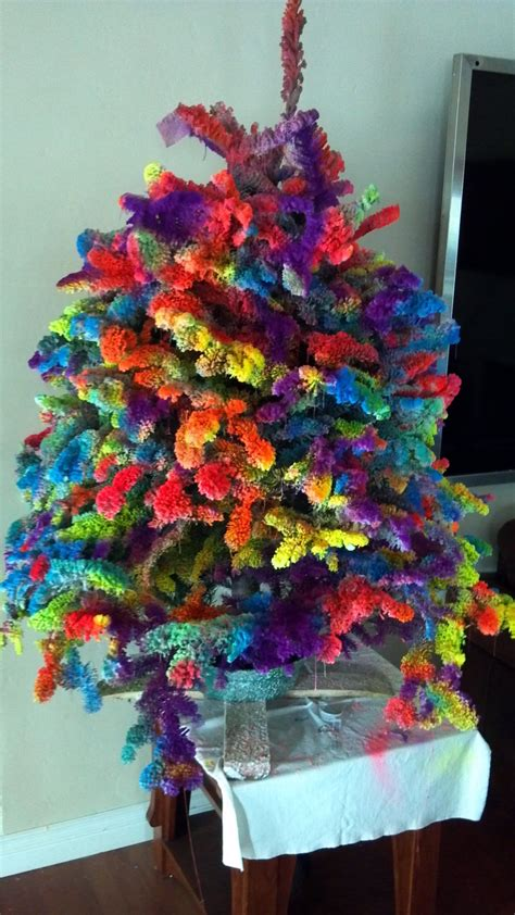 our tie dye christmas tree 2012 dream home pinterest