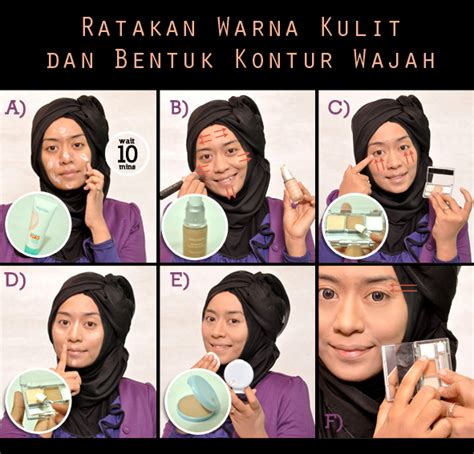 tutorial makeup natural muslimah wardah tutorial make up wardah untuk kulit sawo matang