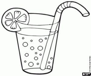 coloring page glass of water to drink coloring pages printable games