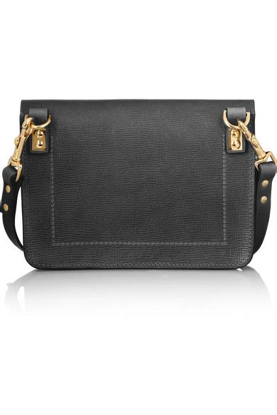 hulme envelope mini textured leather shoulder bag