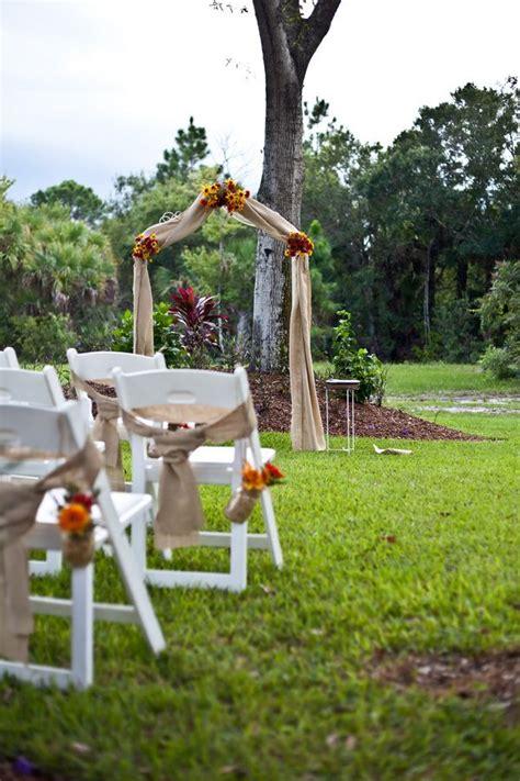 Backyard Wedding Entrance Best 25 Burlap Wedding Arch Ideas On Rustic