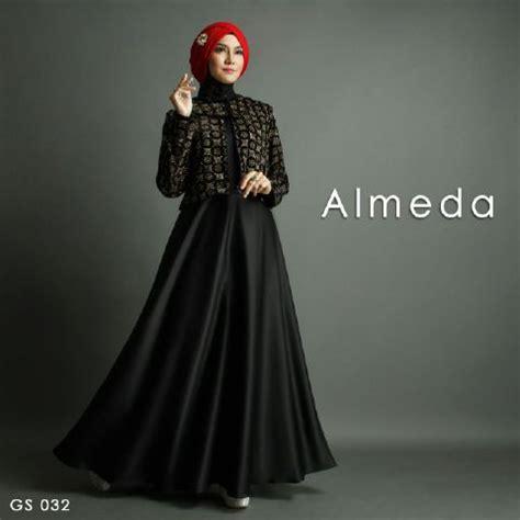 Gamis Hitam baju gamis pesta a257 hitam satin premium