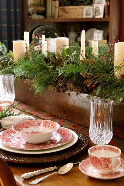 fresh christmas centerpieces greenery candles rustic box holidays beautiful fresh green and centerpieces
