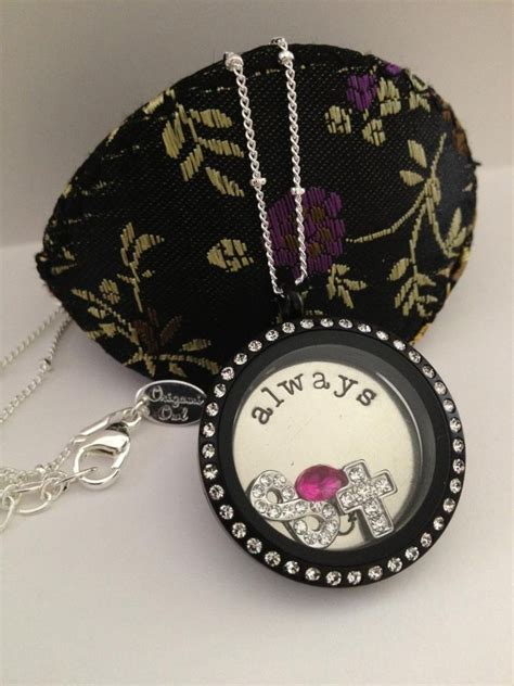 black origami owl locket origami owl new black locket origami owl