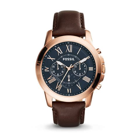 Fossil Fs 5068 grant chronograph brown leather fossil