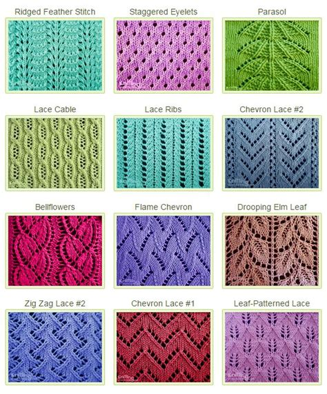 types of knitting stiches 25 best ideas about knit stitches on knitting