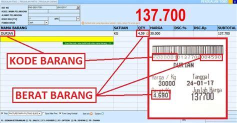 Gambar Timbangan Retail setting barcode barang timbangan digital berdasarkan berat