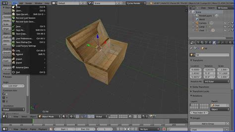 blender 3d tutorial texture blender tutorial making a wooden chest and quickly and