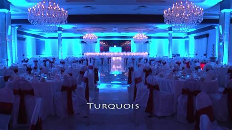 Popular Wedding Reception Uplighting Colors   Pittsburgh