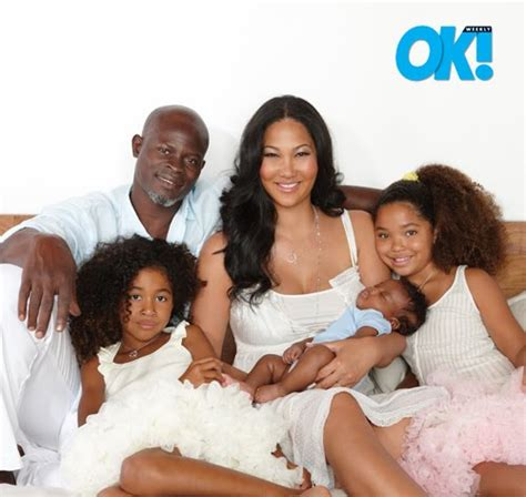 new wife catches husband curling his hair kimora lee simmons with kenzo and family in ok
