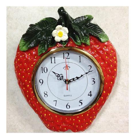 clock themes jar strawberry kitchen decor theme ceramics country