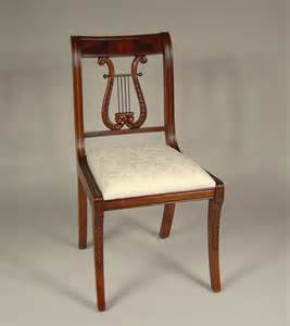 lyre back dining room chairs solid mahogany schmieg