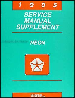 1995 dodge stealth repair shop manual original set with rt 1995 dodge neon repair shop manual original supplement
