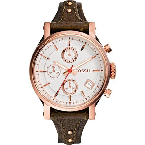 Fossil 3616 Leather Brown es3616 original boyfriend fossil watches2u