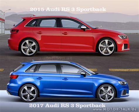 Audi A3 Sportback Unterschied by 008 2015 2017 Audi Rs 3 Sportback Vergleich Comparison