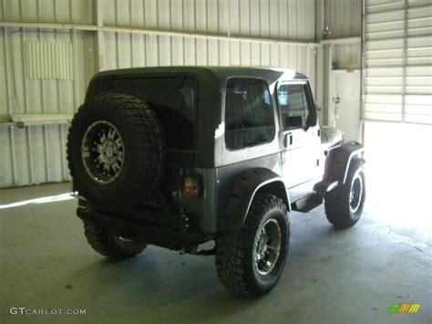 charcoal grey jeep 1990 charcoal gray metallic jeep wrangler laredo 4x4