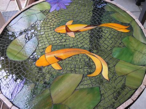 mosaic koi pattern koi mosaic table photo this photo was uploaded by