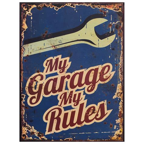 werkstatt vintage workshop tin sign my garage my vintage garage wall