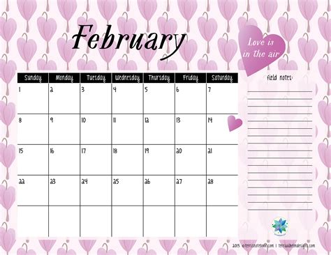 free february 2015 calendar template 8 best images of free printable 2015 calendar with notes