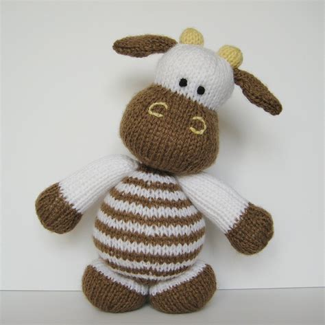 knitting pattern toys milkshake the cow toy knitting pattern by fluffandfuzz on etsy