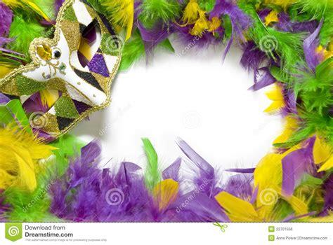 mardi gras feather amp mask frame royalty free stock image