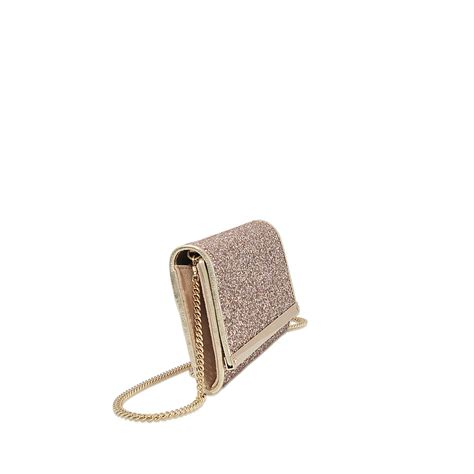 Jimmy Choo Shimmer Calfskin Clutch by Lyst Jimmy Choo Milla Clutch In Metallic