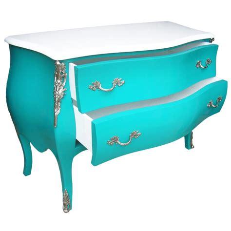 commode turquoise commode baroque de style louis xv turquoise et plateau