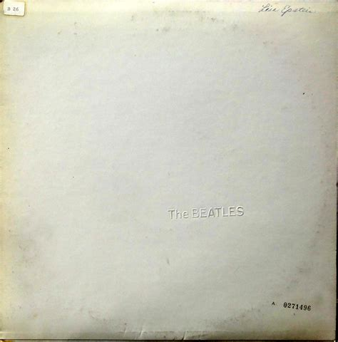 Tje Whitening Original from the stacks the beatles white album with inserts