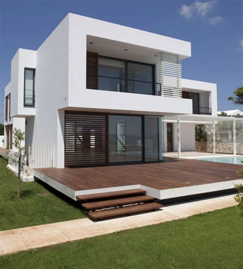 minimalist exterior house design ideas home decorating cheap casa em menorca arq